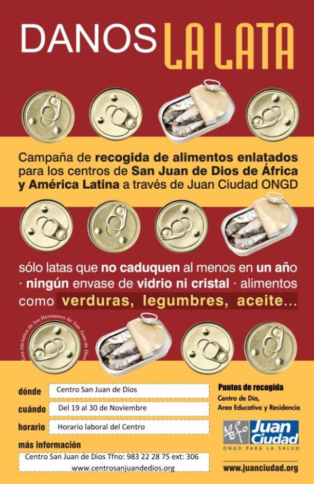 Campaña Danos la Lata Juan Ciudad ONGD