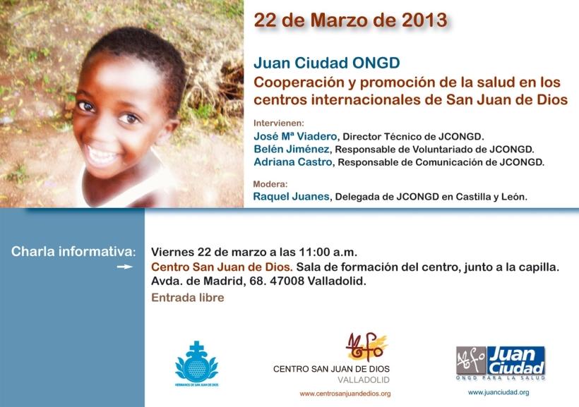 Cartel charla JCONGD Valladolid