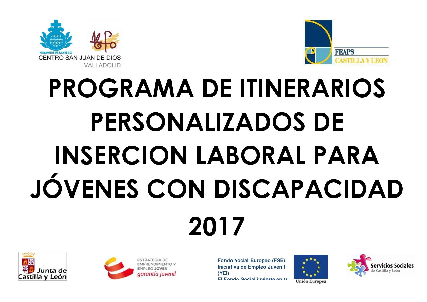 Itinerarios personalizados de empleo YEI 2017