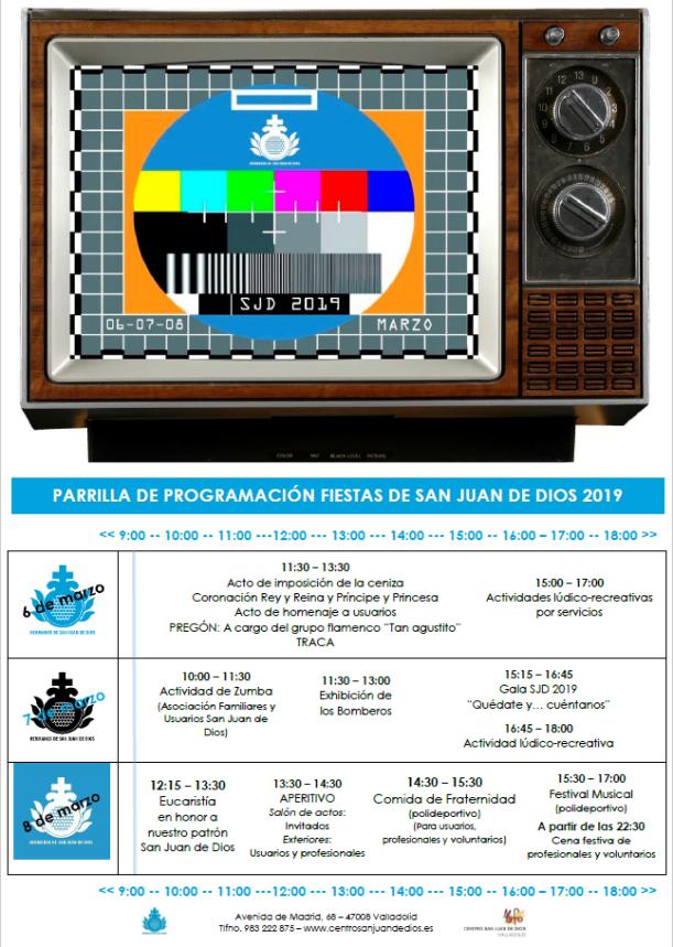 Programa San Juan de Dios 2019